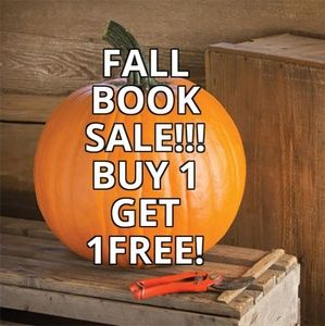 Buy any book, get 1 free! See details below!